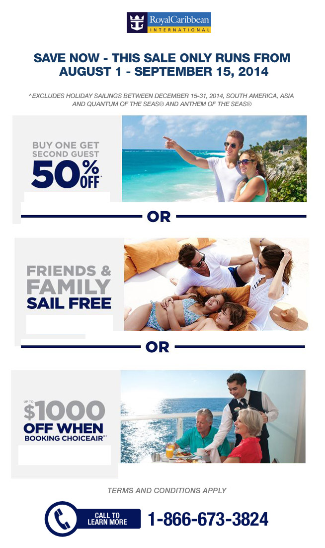 royal caribbean   3 great ways to save