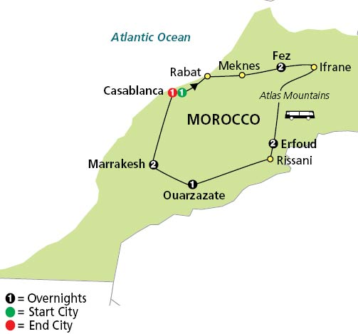 Jewels Of Morocco Tour Globus Cosmos Escorted Tours Red Tag - Morocco tours