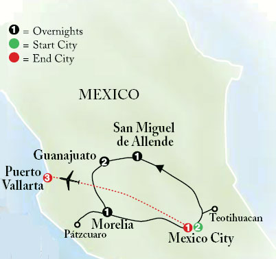 Map Of Mexico And Cities
