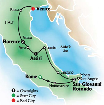 San Giovanni Rotondo Italy Map.Grand Catholic Italy Tour Visit The Vatican Museums Sistine