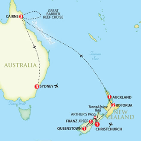 escorted australia new zealand tours