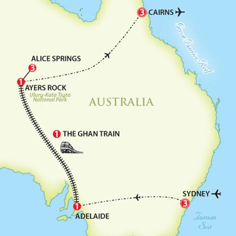Australia Tour Map.Wonders Of Australia Trafalgar Escorted Tours Red Tag Tours