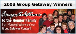 Group Getaway Winner 2008