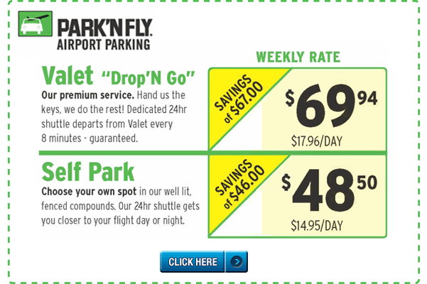Airport parking discount coupon